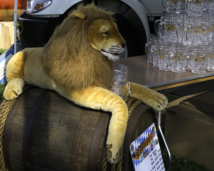 Lion and Keg
